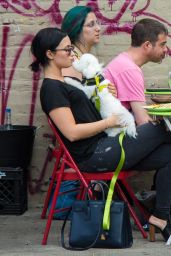 Demi Lovato at La Esquina Restaurant in New York City, May 2015