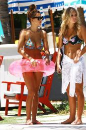 Devin Brugman & Natasha Oakley Bikini Candids - Miami, May 2015