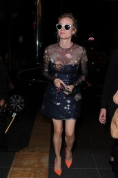 Diane Kruger Night Out Style  - TETOU Restaurant in Cannes, May 2015