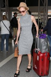 Diane Kruger - Spotted on Her Way to Paris,France, May 2015