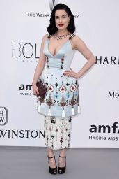 Dita Von Teese – 2015 amfAR Cinema Against AIDS Gala in Antibes (France)