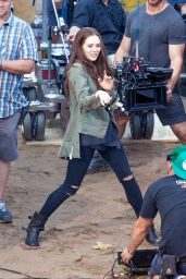 Elizabeth Olsen - Captain America: Civil War Set Pics, Atlanta, May 2015