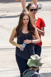 Elizabeth Olsen - On set of Captain America: Civil War in Atlanta, May 2015