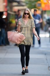 Elsa Hosk Casual Style - Out in New York City, May 2015