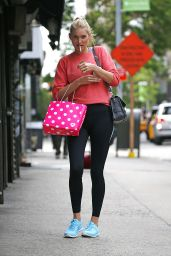 Elsa Hosk in Leggisns - Out in New York CIty, May 2015