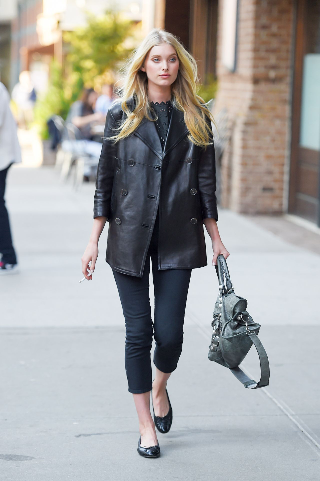elsa hosk style out in new york city may 2015. Black Bedroom Furniture Sets. Home Design Ideas