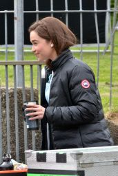 Emilia Clarke - Me Before You SEt Photos, Wales, May 2015