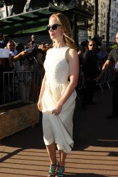 Emily Blunt - Arriving at Canal Plus in Cannes, May 2015