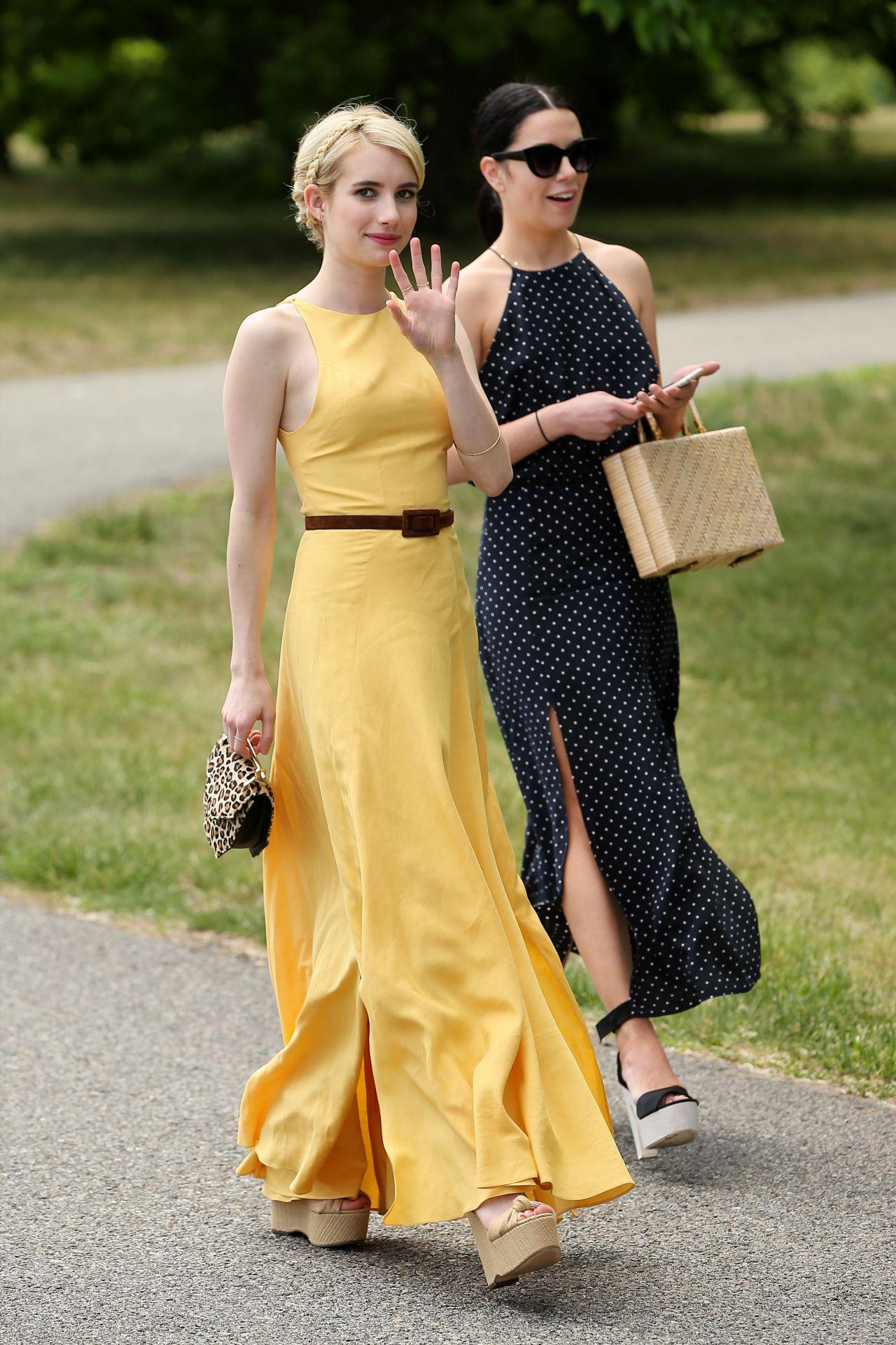 Emma roberts yellow dress