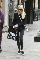 Emma Roberts in Leggings - Out in New York City, May 2015