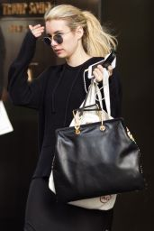 Emma Roberts - Leaving a Hotel in Manhattan, May 2015