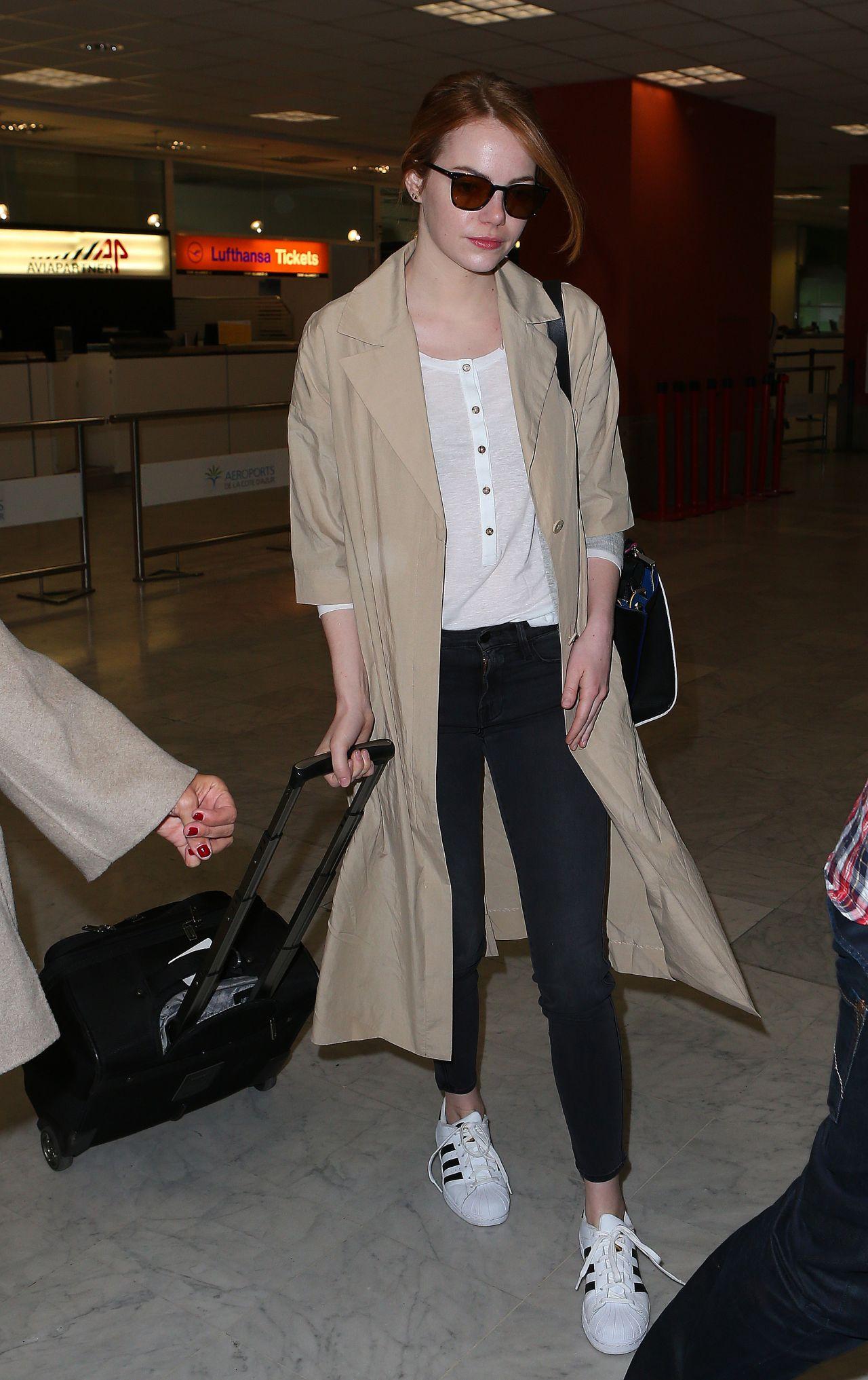 Emma Stone At Nice Airport May 2015