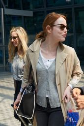 Emma Stone - Heathrow Airport in London, May 2015
