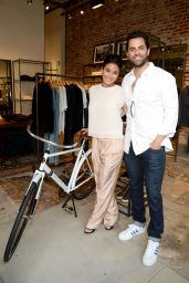 Emmanuelle Chriqui - Rag & Bone Sole Bicycle Event at Rag & Bone in Venice