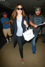 Emmy Rossum at LAX Airport in Los Angeles - May 2015