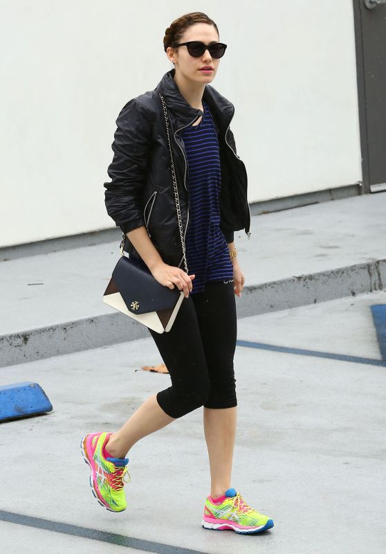 Emmy Rossum - Leaving a Gym After a Workout in West Hollywood, May 2015