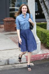 Emmy Rossum - Out on a Windy Day in West Hollywood - May 2015