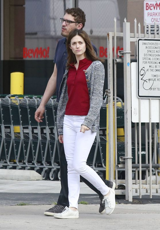 Emmy Rossum Street Style - Out in West Hollywood, May 2015