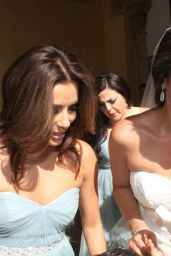 Eva Longoria - Goes Barefoot as a Member Close Friends Bridal Party in Cordoba, May 2015