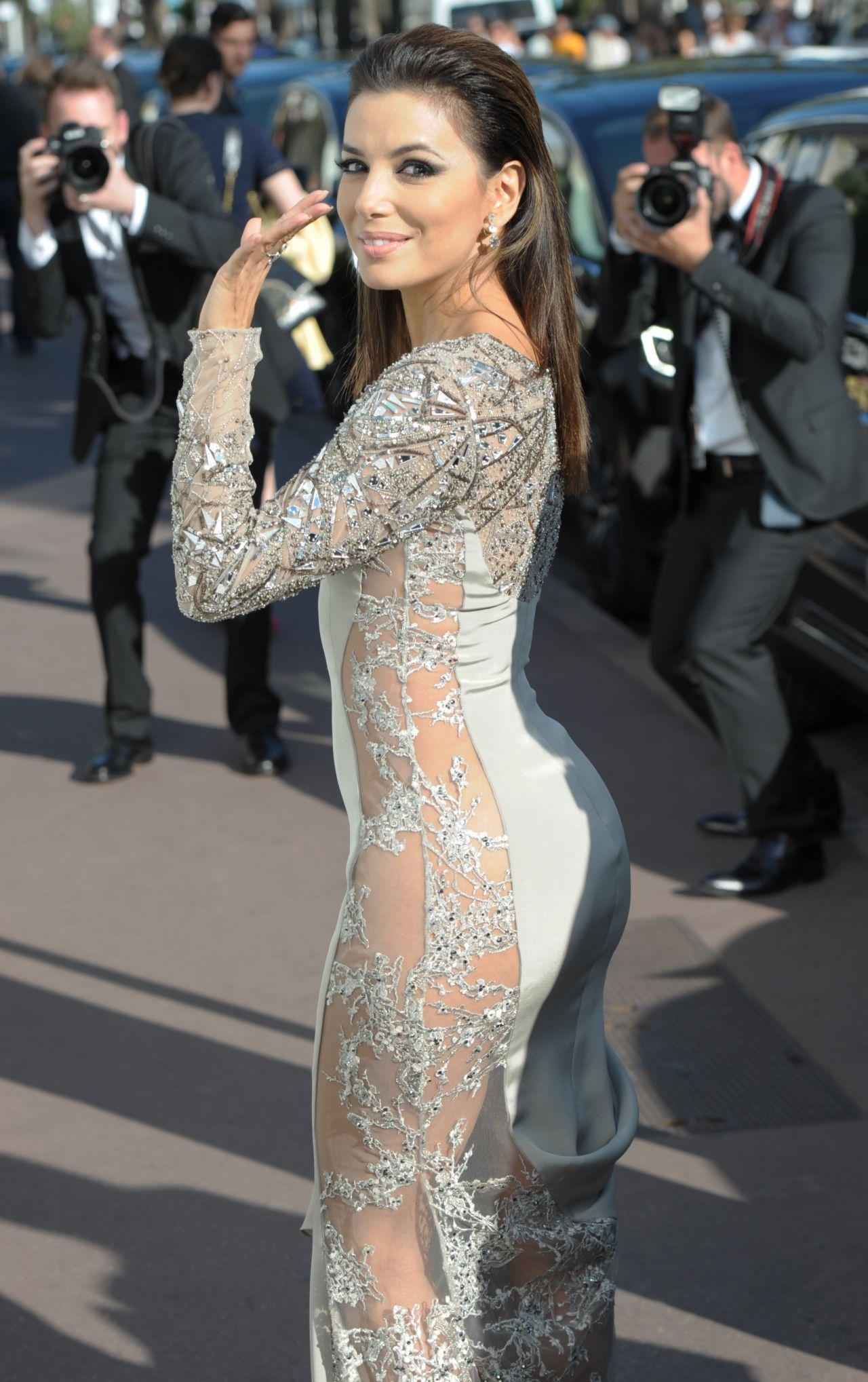 Eva Longoria – Leaving the Martinez Hotel in Cannes, May 2015