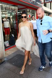 Eva Longoria - on Balcony and Outside of Hotel Martinez in Cannes, May 2015
