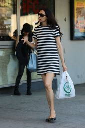 Famke Janssen Street Style - Out in SoHo, New York, May 2015