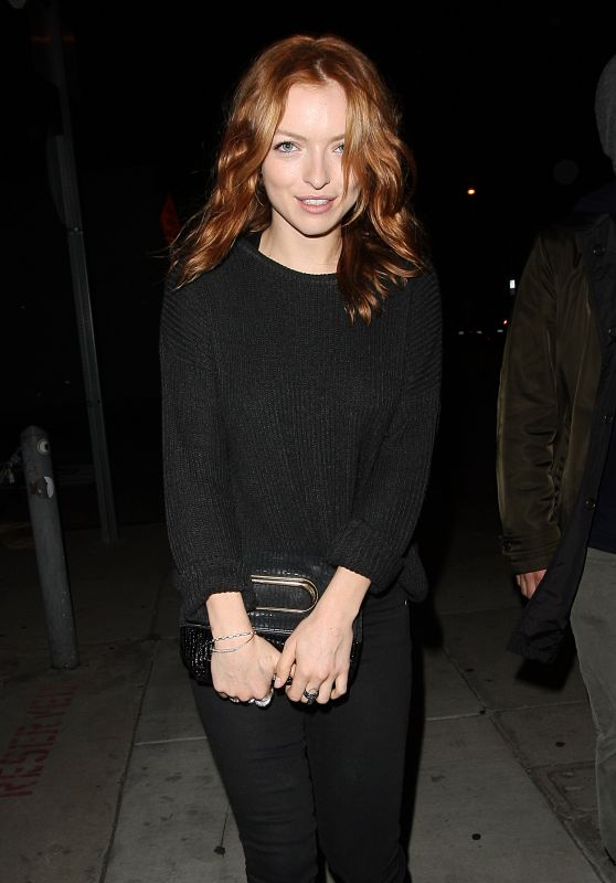 Francesca Eastwood - Leaving Craigs Restaurant, May 2015