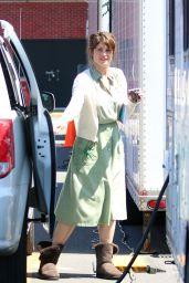 Gemma Arterton - On the set of