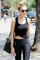 Gigi Hadid in Tights - Out in New York CIty, May 2015