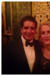Gillian Anderson - Filthy Lucre Peacock Feather Gala, May 2015