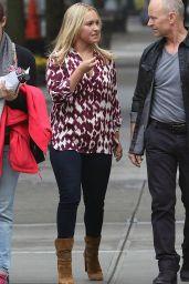Hayden Panettiere - Filming James Lapine
