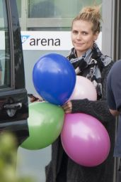 Heidi Klum Leaving the SAP Arena in Mannheim,Gemany, May 2015