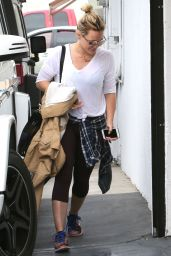 Hilary Duff Going to a Gym in West Hollywood, May 2015