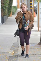 Hilary Duff in Leggings - Out in West Hollywood, May 2015