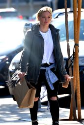 Hilary Duff - Leaving Cafe Zinque in Los Angeles, May 2015