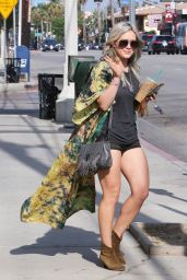 Hilary Duff Shows Off Her Legs - Out in Studio City, May 2015