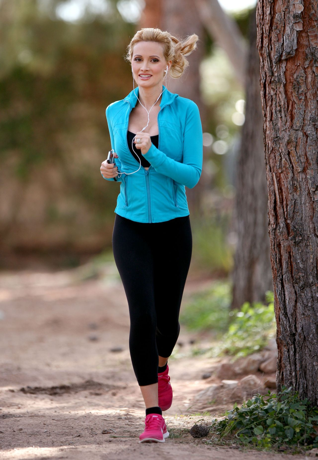 Holly Madison Takes A Jog Near Her Home In Las Vegas