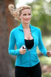 Holly Madison - Takes a Jog Near Her Home in Las Vegas, April 2015