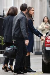 Irina Shayk Street Style - Out in London, May 2015