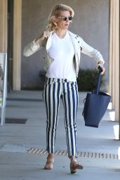 January Jones Casual Style - Shopping in LA, April 2015