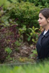 Jenna-Louise Coleman on the Set of