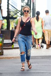 Jennifer Lawrence in Ripped Jeans - Out in NYC, May 2015