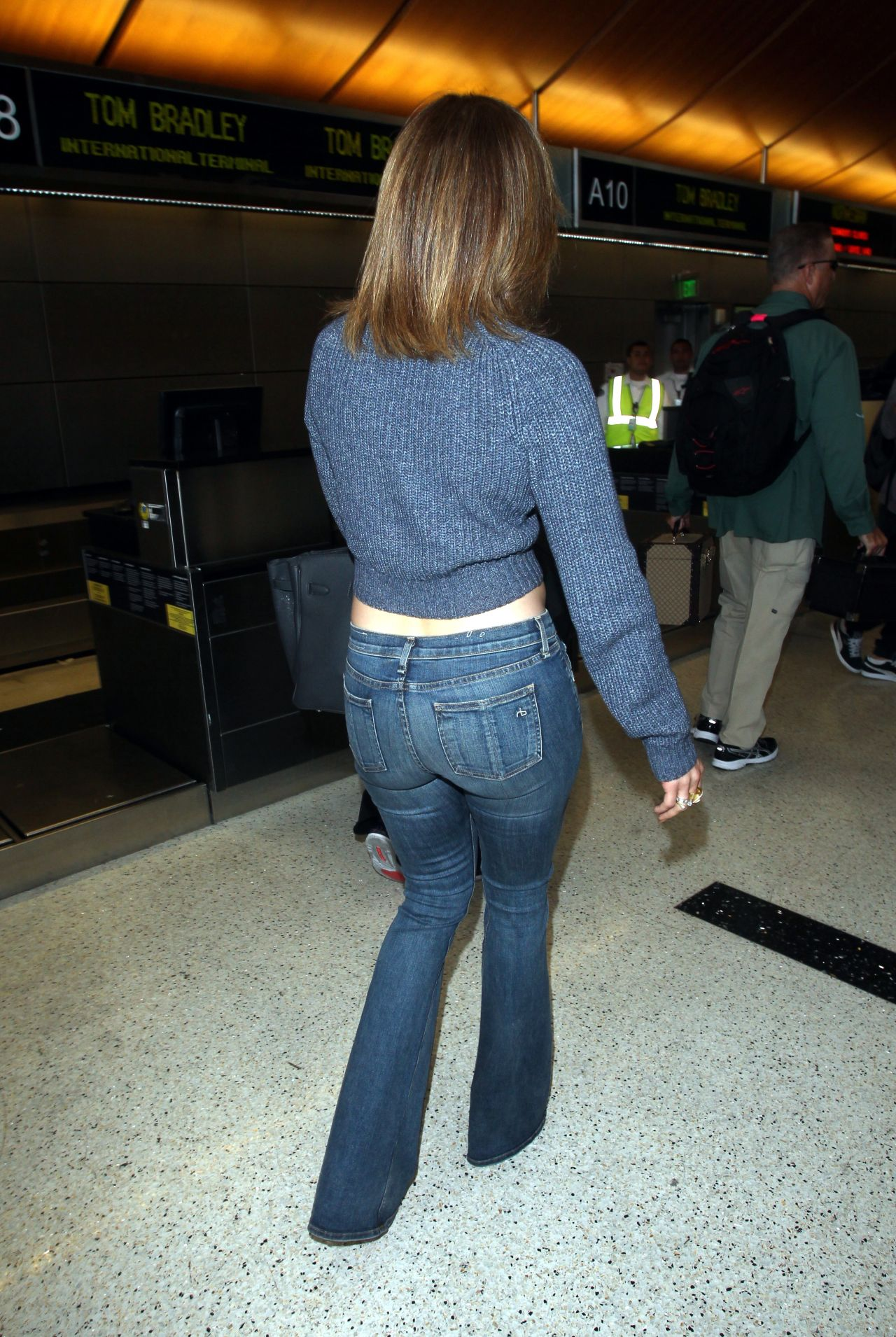 Jennifer Lopez Booty In Jeans At Lax Airport May 2015