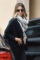 Jessica Alba - Outside a Hotel in Beverly Hills, May 2015