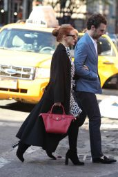 Jessica Chastain Going to the Subway in New York City, May 2015