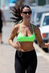 Jessica Lowndes Booty in Leggings - Out For a Run in France, May 2015