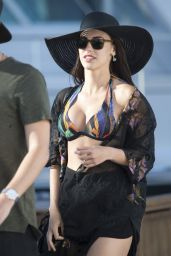 Jessica Lowndes in a Bikini Top on a Yacht at The Cannes Film Festival, May 2015