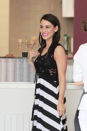 Jessica Lowndes - In a Black Lace Mesh top, Cannes, May 2015