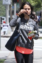 Jordana Brewster in Leggings - Out in Brentwood, May 2015