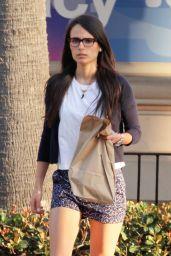 Jordana Brewster Leggy in Shorts - Out in Malibu, May 2015